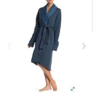 UGG Duffield ll Robe Womens -M- Teal Blue